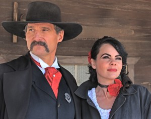 Craig and Jenna performing a show at Gammons Gulch Movie Set in Benson, AZ. Photography by Carl Sparfeld.