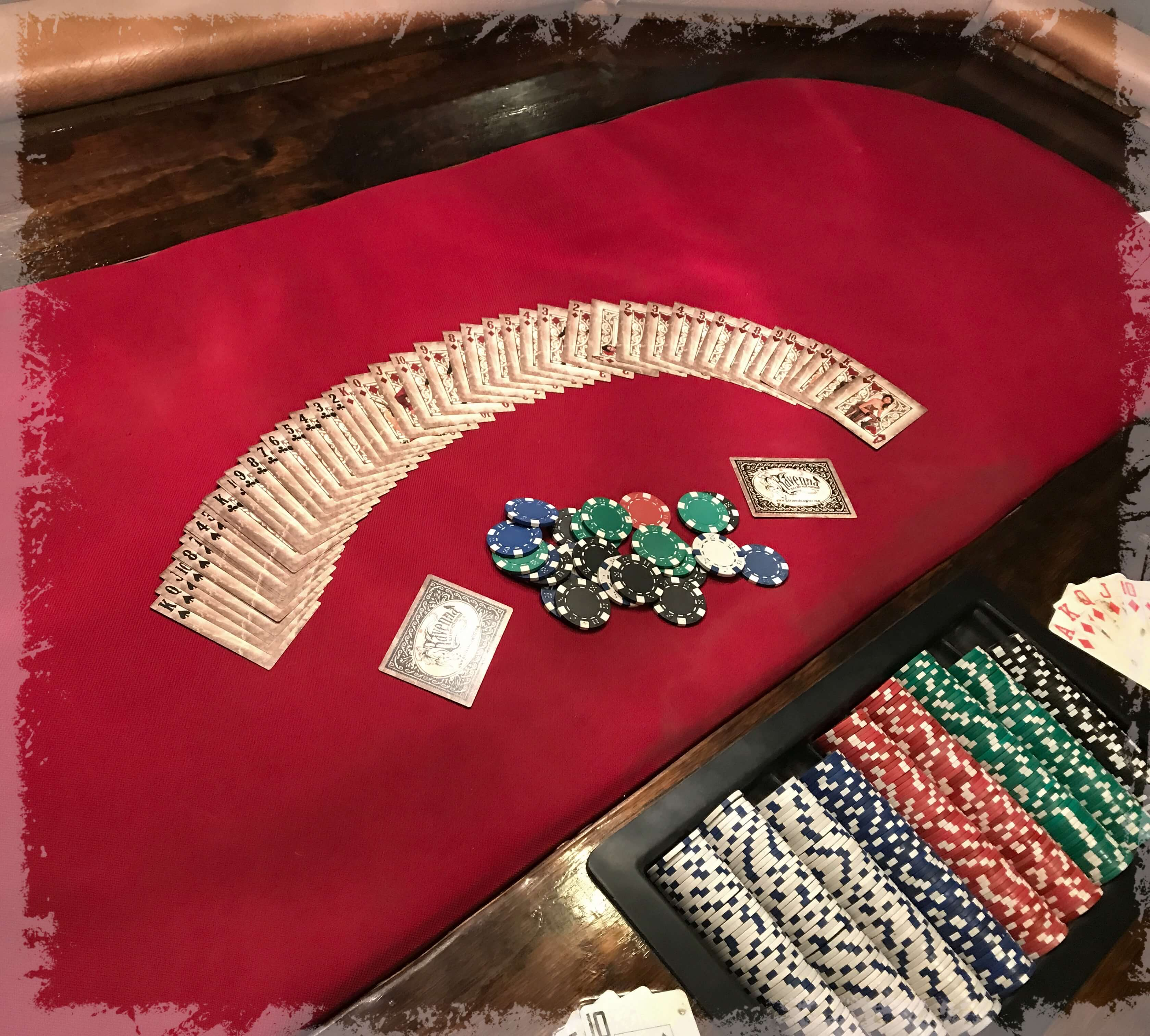 Casino feet on the table
